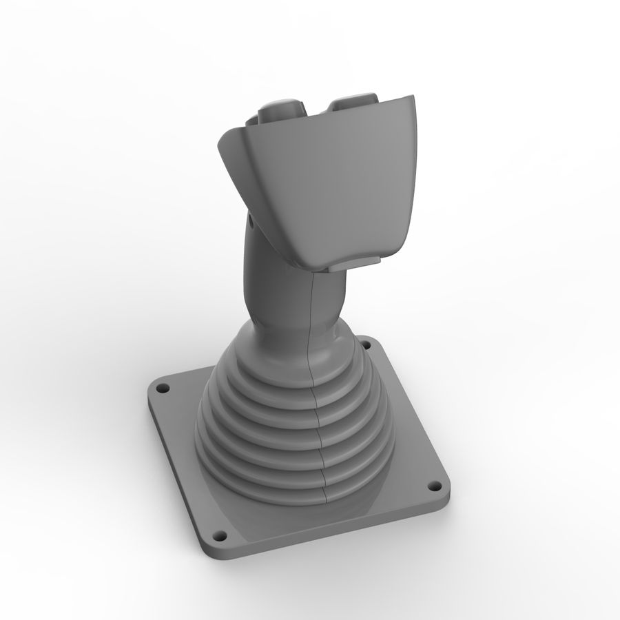 Joystick industriale royalty-free 3d model - Preview no. 10