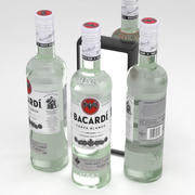 Alcohol Bottle Bacardi Carta Blanca White Rum 700ml 3d model