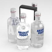 アブソルートウォッカ700mlボトル 3d model