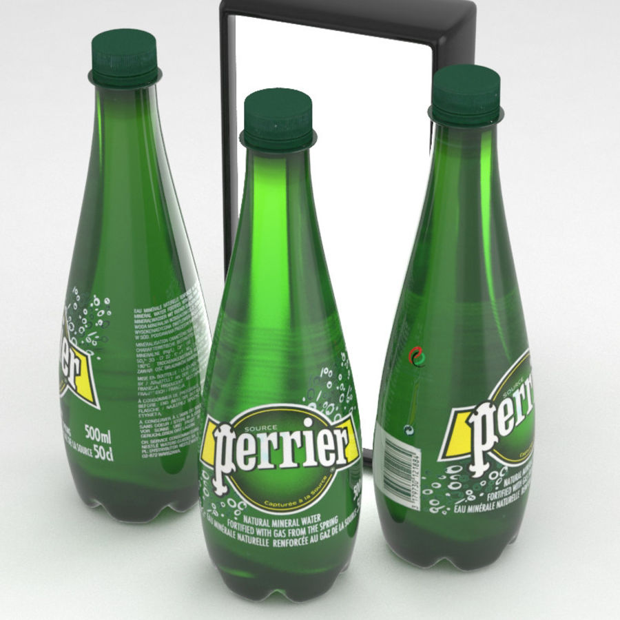 Perrier Water Bottle 500ml royalty-free 3d model - Preview no. 1
