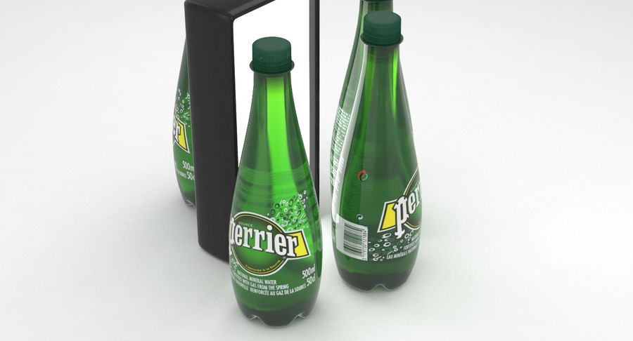 Perrier Water Bottle 500ml royalty-free 3d model - Preview no. 4