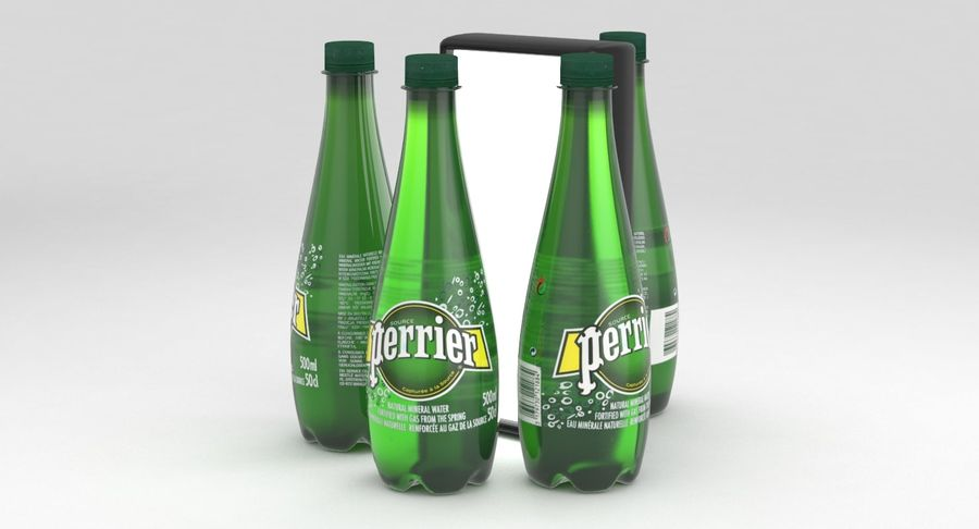 Perrier Water Bottle 500ml royalty-free 3d model - Preview no. 5
