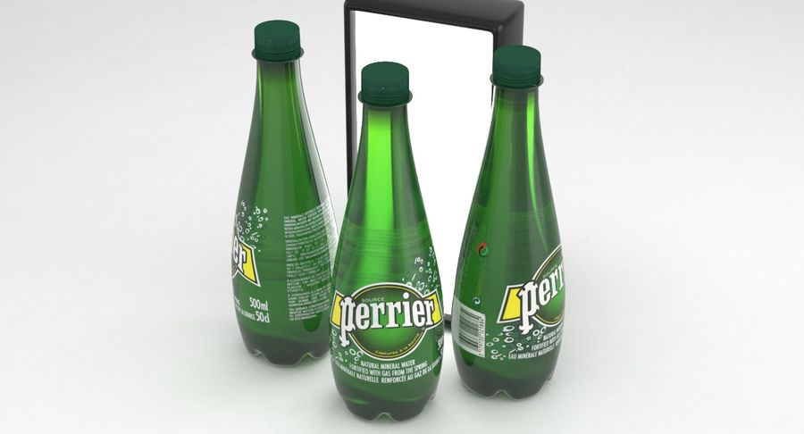 Perrier Water Bottle 500ml royalty-free 3d model - Preview no. 2