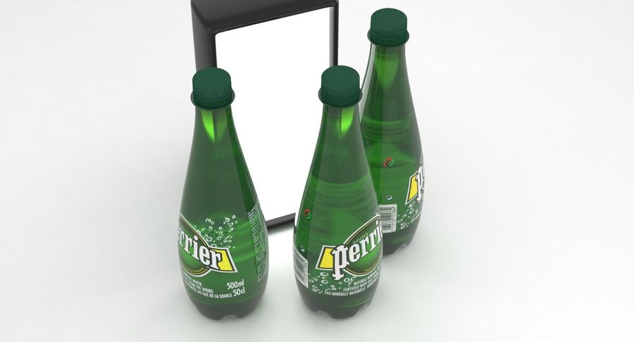 Perrier Water Bottle 500ml royalty-free 3d model - Preview no. 3
