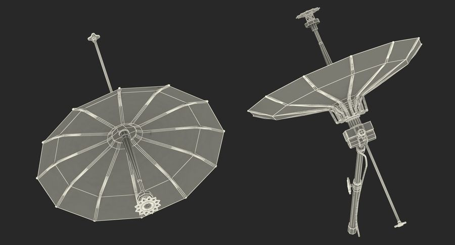 Schotelantenne royalty-free 3d model - Preview no. 16