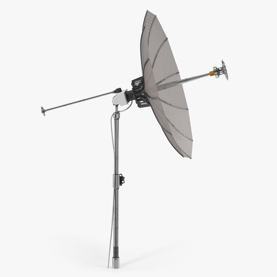 Mesh Dish Antenna royalty-free 3d model - Preview no. 1