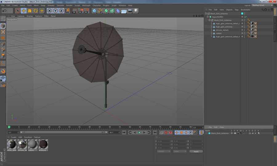 Schotelantenne royalty-free 3d model - Preview no. 14