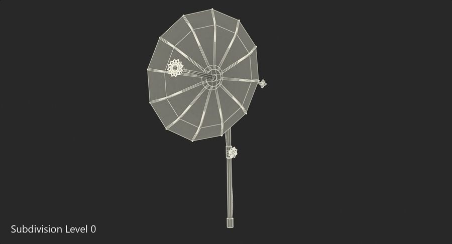 Schotelantenne royalty-free 3d model - Preview no. 9