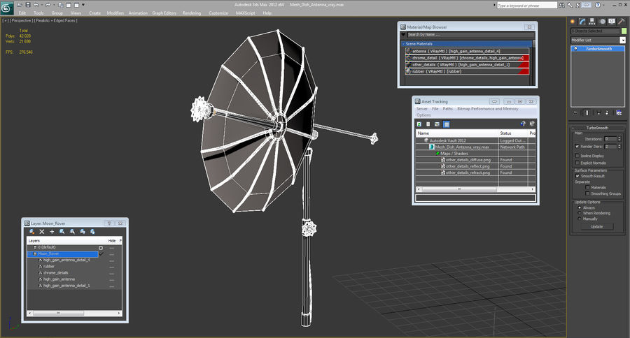 Schotelantenne royalty-free 3d model - Preview no. 15
