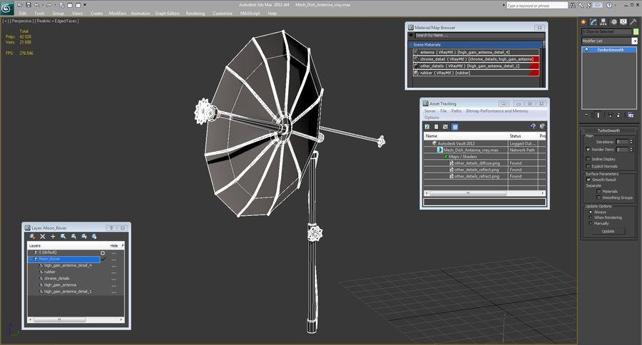 Mesh Dish Antenna royalty-free 3d model - Preview no. 15