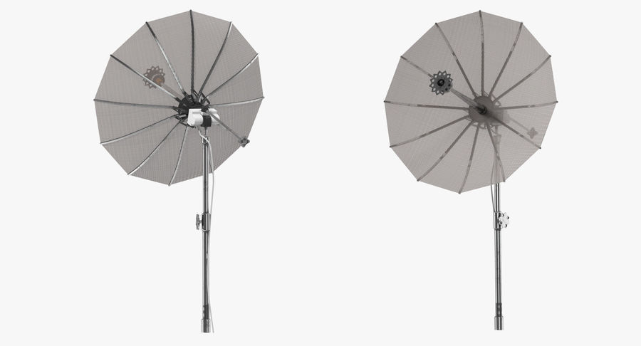 Schotelantenne royalty-free 3d model - Preview no. 4
