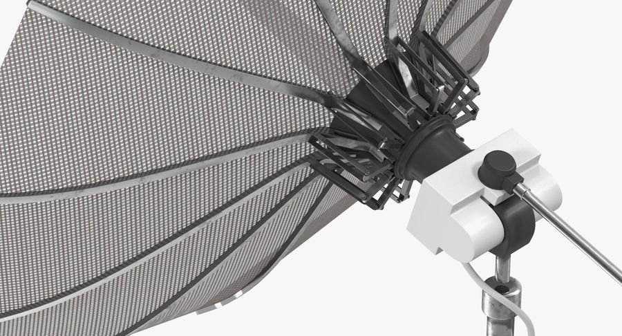 Schotelantenne royalty-free 3d model - Preview no. 7