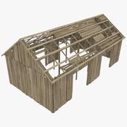 우드 하우스 3d model