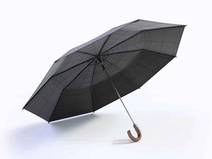 Open umbrella royalty-free 3d model - Preview no. 14