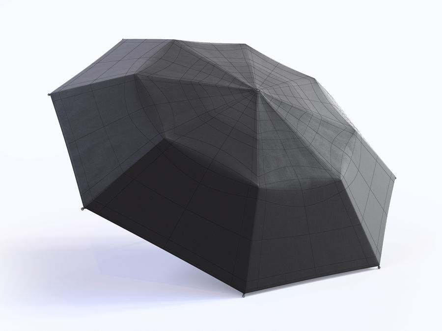 Open umbrella royalty-free 3d model - Preview no. 18