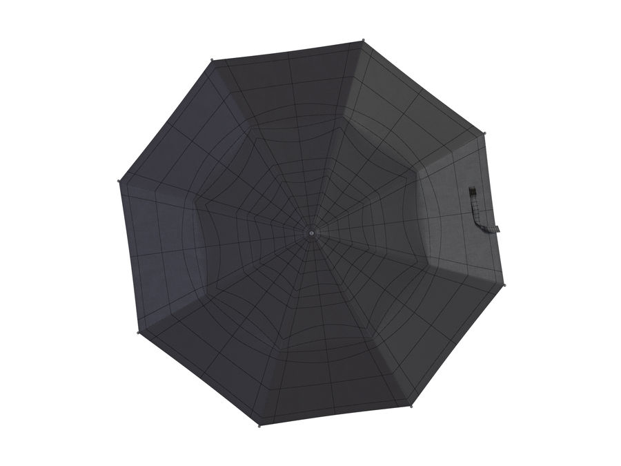 Open umbrella royalty-free 3d model - Preview no. 20