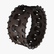 Brown Leather Bracelet 3d model