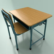 Classroom Desk 3d model