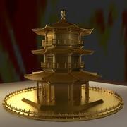 중국 탑 3d model