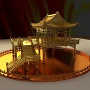 중국 고 대 집 3d model