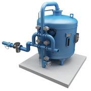 Filtragem de Fluxo de Água Gelada 3d model