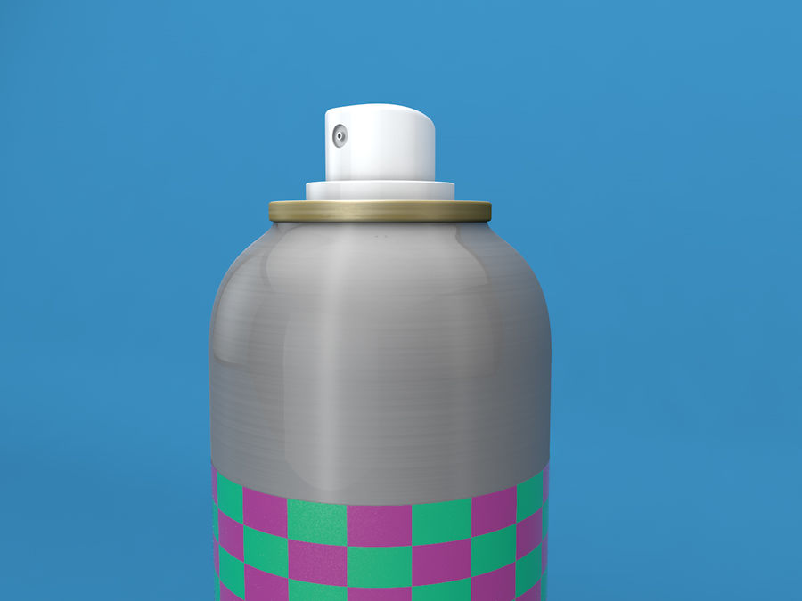 AEROSOL CAN royalty-free 3d model - Preview no. 2