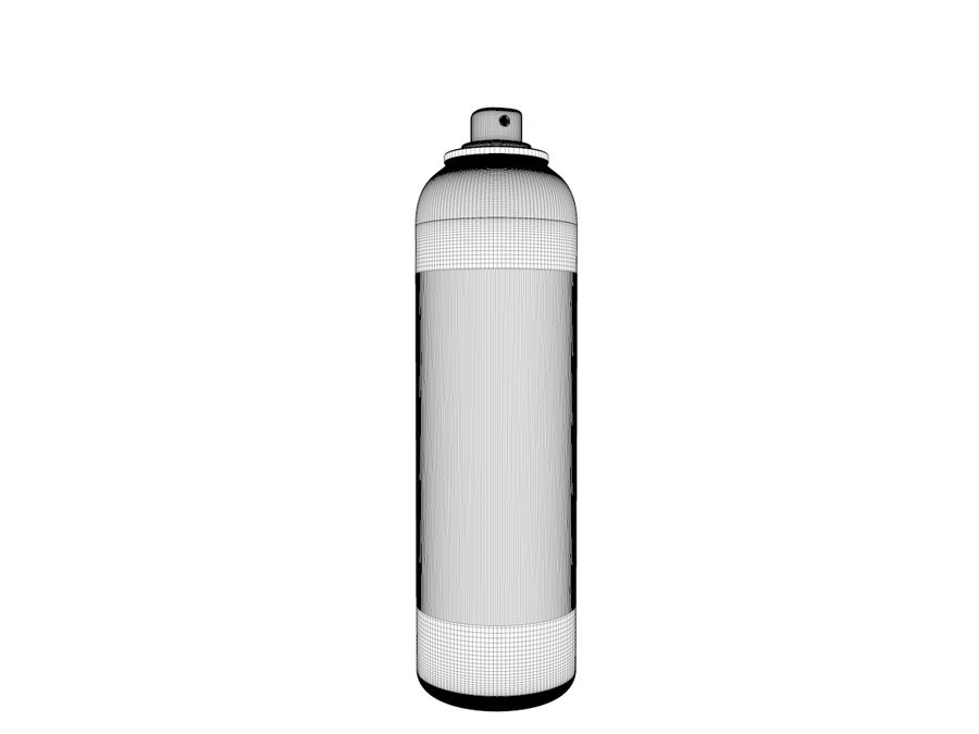 AEROSOL CAN royalty-free 3d model - Preview no. 4