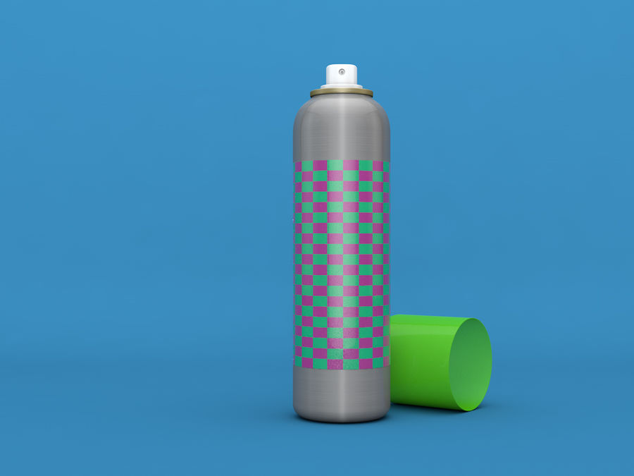 AEROSOL CAN royalty-free 3d model - Preview no. 1