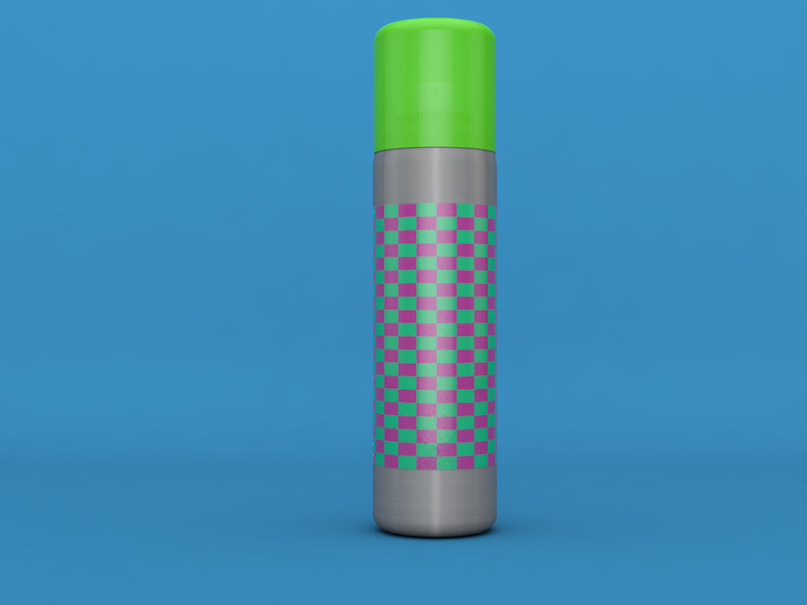 AEROSOL CAN royalty-free 3d model - Preview no. 5