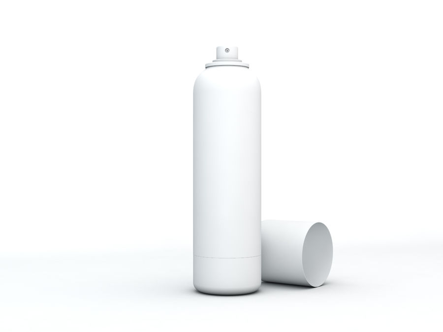 AEROSOL CAN royalty-free 3d model - Preview no. 3