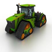 Trattore articolato verde 3d model