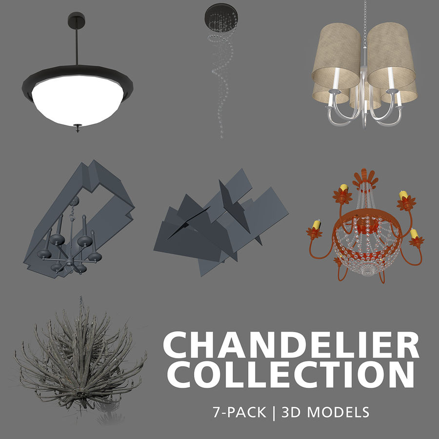 Collection Lustre royalty-free 3d model - Preview no. 1