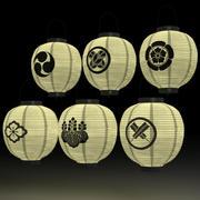 Japanese Paper Lantern 3d model