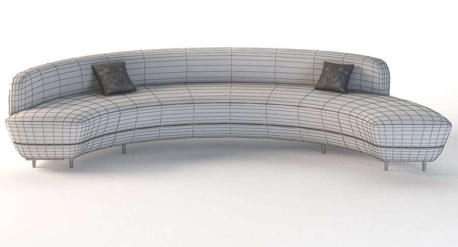 Curved Half Moon Sectional Chaise, Half Moon Couch Furniture