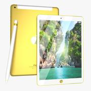 Apple iPad Pro Wi-Fi + 4G 256 GB - Pearl Gold (Nova Edição) + Apple Pencil 3d model