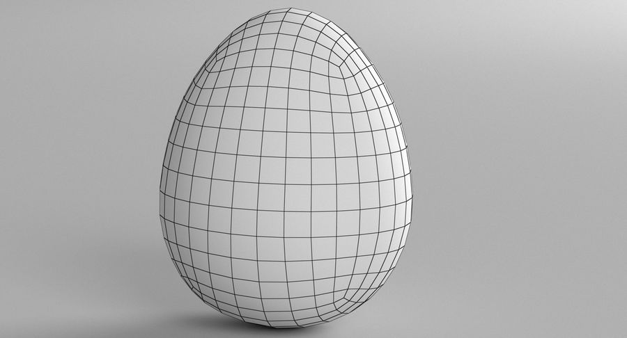 Brown Easter Egg royalty-free 3d model - Preview no. 6