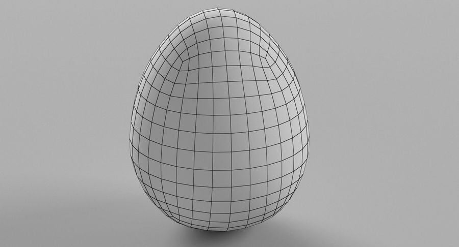 Brown Easter Egg royalty-free 3d model - Preview no. 14
