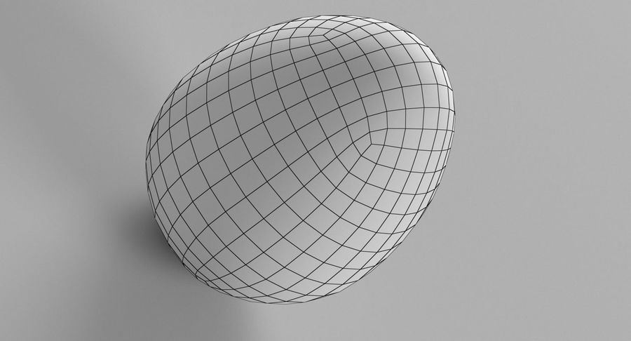 Brown Easter Egg royalty-free 3d model - Preview no. 8