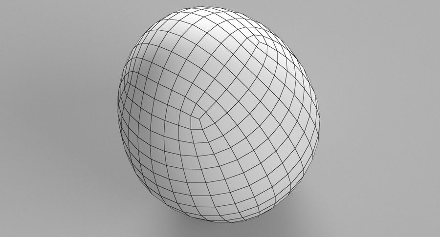 Brown Easter Egg royalty-free 3d model - Preview no. 12