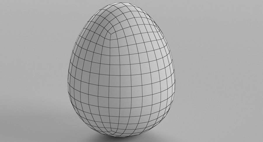 Brown Easter Egg royalty-free 3d model - Preview no. 4