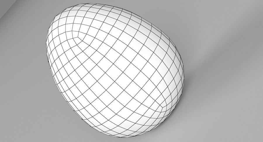 Brown Easter Egg royalty-free 3d model - Preview no. 10