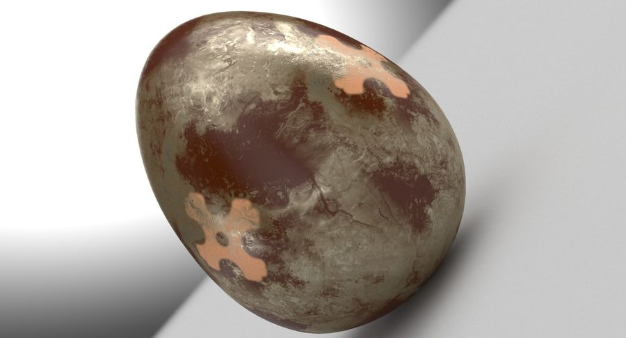 Brown Easter Egg royalty-free 3d model - Preview no. 11