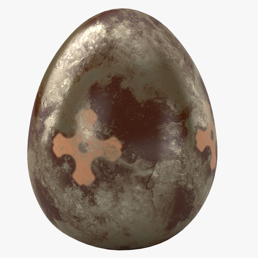 Brown Easter Egg royalty-free 3d model - Preview no. 1