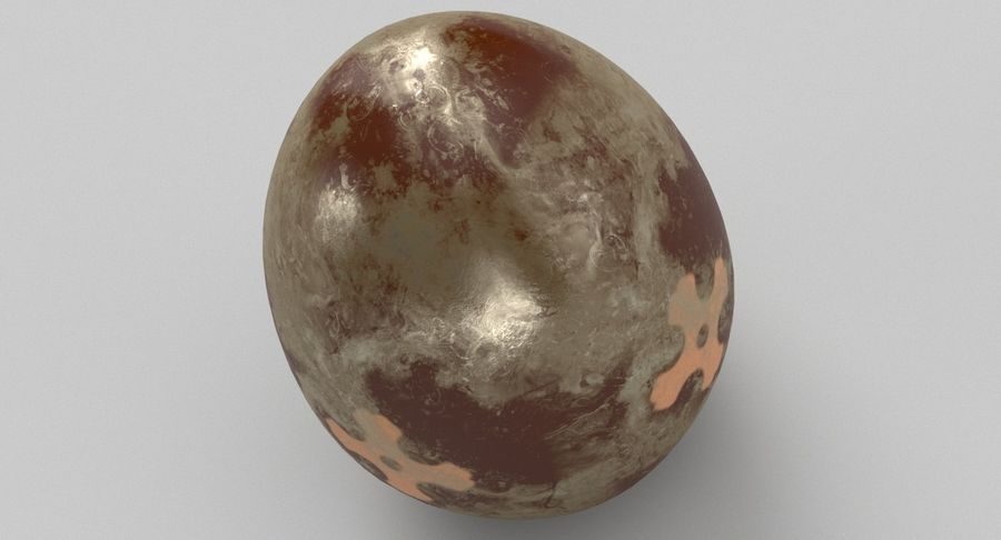 Brown Easter Egg royalty-free 3d model - Preview no. 13