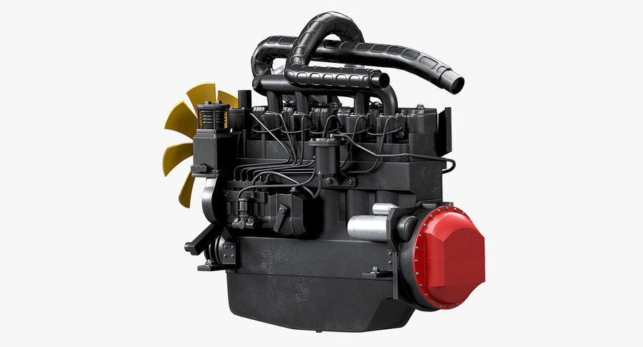 Diesel Engine royalty-free 3d model - Preview no. 13