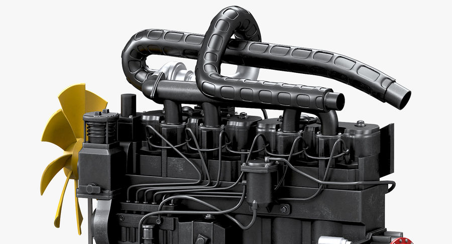 Diesel Engine royalty-free 3d model - Preview no. 10