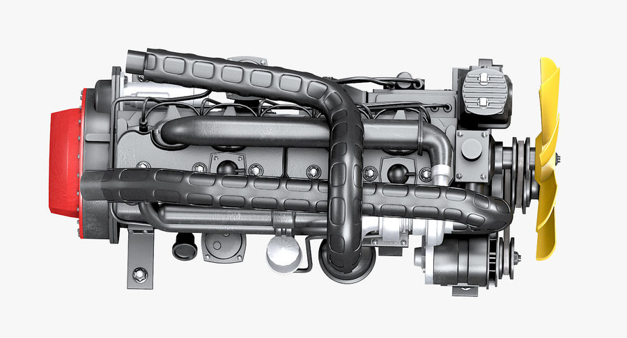 Diesel Engine royalty-free 3d model - Preview no. 11