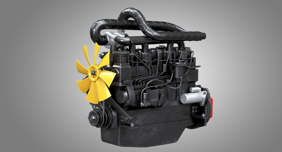 Diesel Engine royalty-free 3d model - Preview no. 2