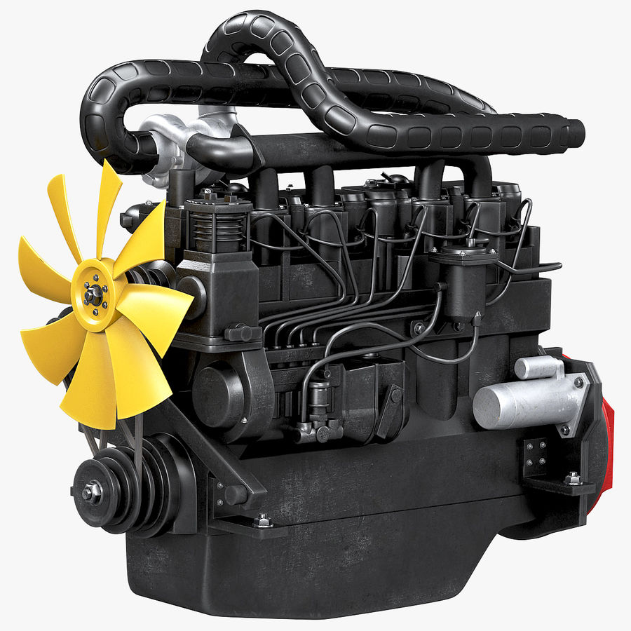 Diesel Engine royalty-free 3d model - Preview no. 1