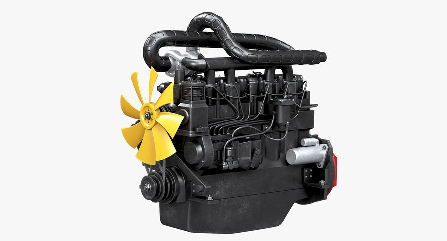 Diesel Engine royalty-free 3d model - Preview no. 12